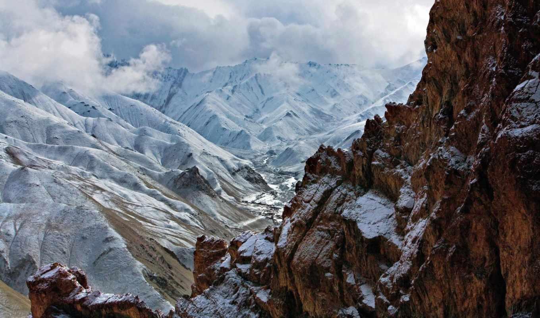 горы, скалы, категория, совершенно, природа, снег,