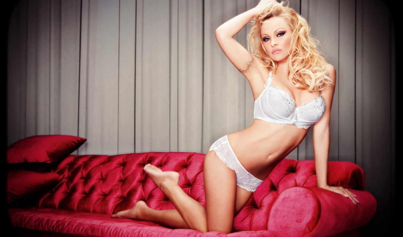 диване, белом, anderson, pamela, актриса, sexy, girls, розовом, pack,