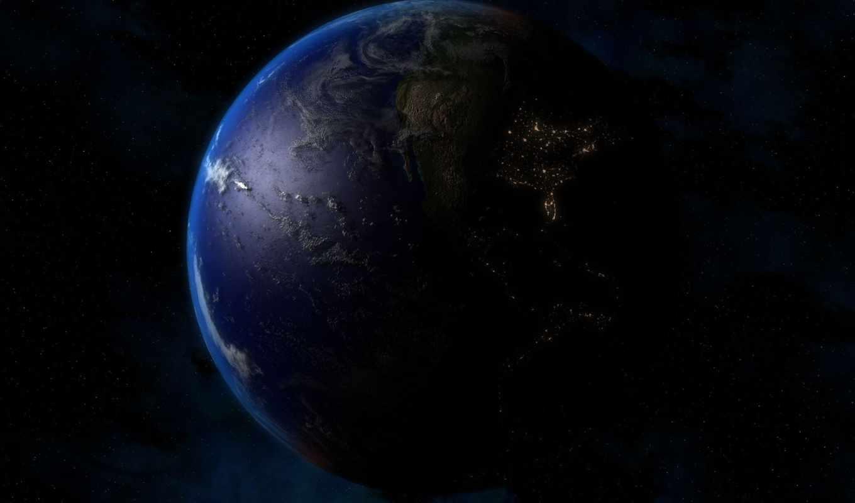 , земля, planeta, космос, nasa, огни,