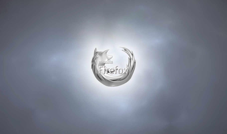 mozilla, firefox, browser, серебряный, серый
