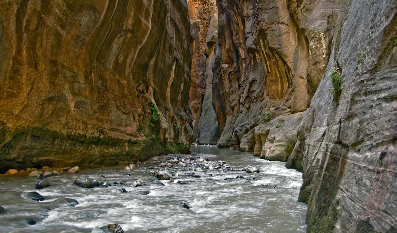 река, ущелье, горная,