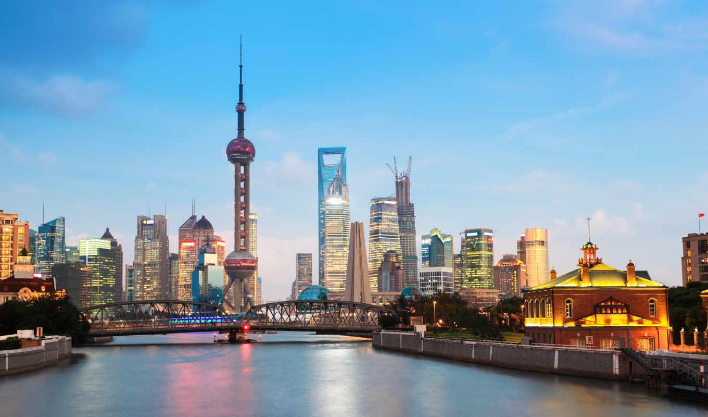 pudong, shanghai, hotel, река, skyline, huangpu,