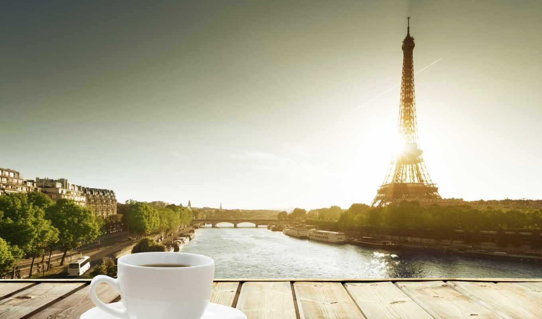 фон, coffee, столик, wood, зелёный, cup, wooden,