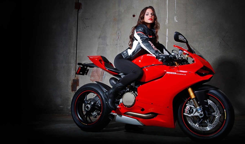 девушка, мотоцикл, devushki, красивая,