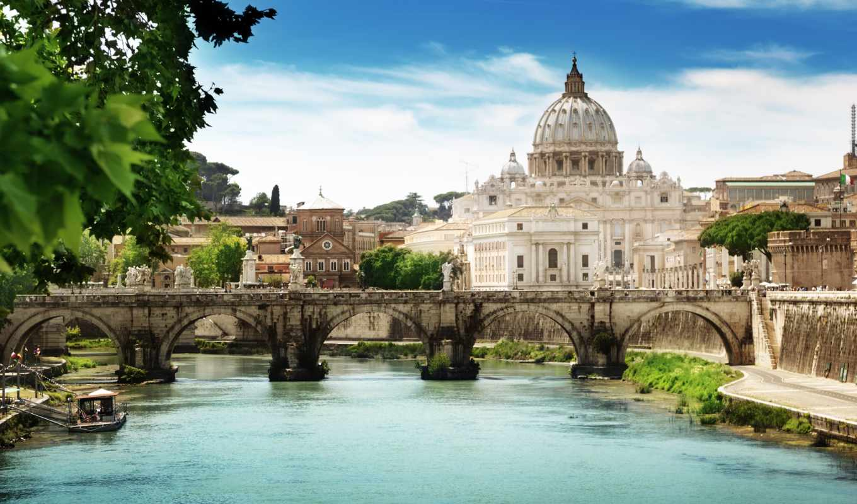 rome, angelo, italy, bridge, vaticano, del, stato, della, cittђ, картинка, картинку,