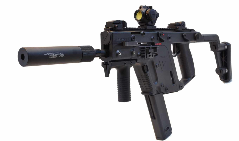 оружие, ПП, kriss vector, оптика, глушитель, планка пикатинни