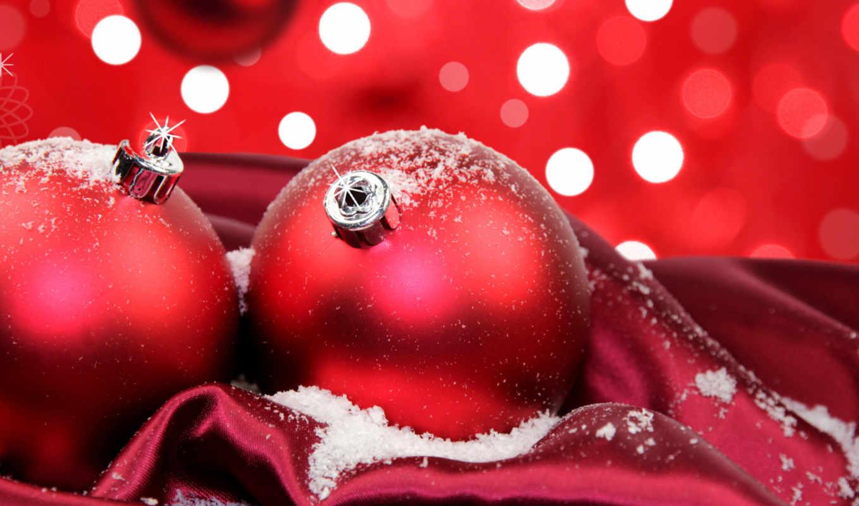 christmas, red, шарики, festive, new,