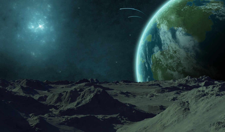 космос, прекрасное, далеко, февр, сайте, comet, луна, earth,
