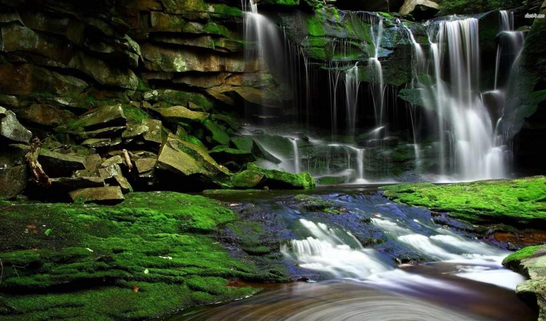 водопад, природа, clear, категория, smartphone, планшетный,