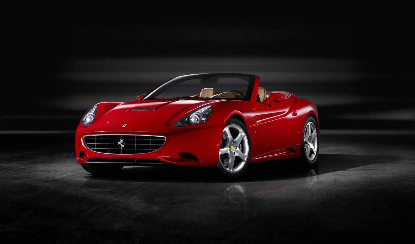 ferrari, california, red,