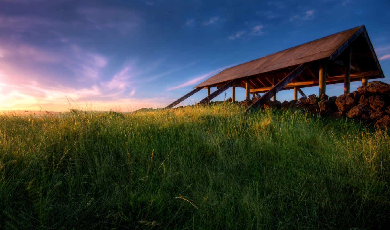 природа, закат, free, landscape, new,