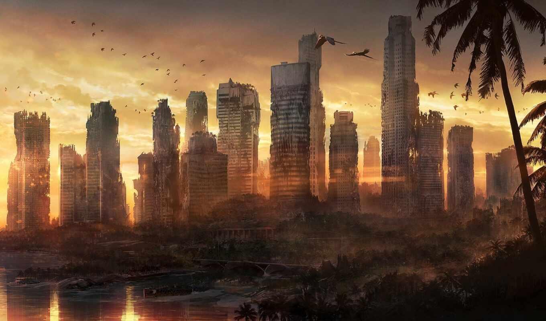 jonas, ro, художник, работы, фантастические, город
