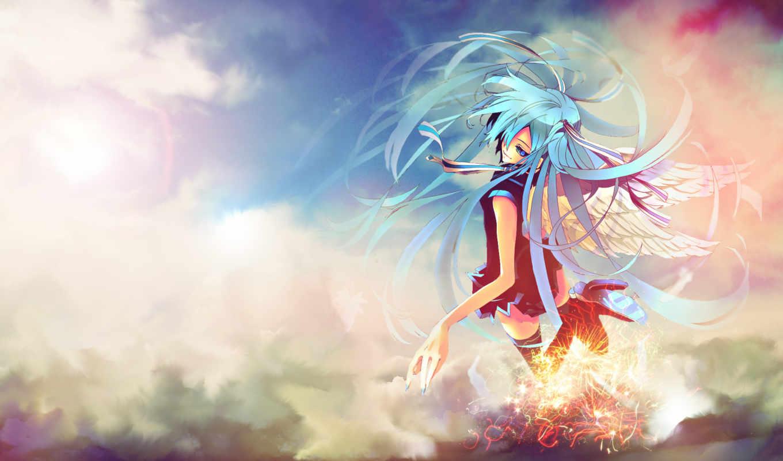 hatsune, miku, vocaloid, сообщества, участников, вокалоид, аниме, картинку, крылья,