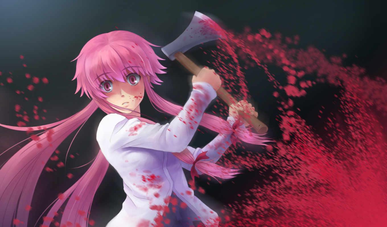 mirai, nikki, yuno, аниме, gasai, то, kanto, юно, дневник, чтобы, будущего, ненавижу,