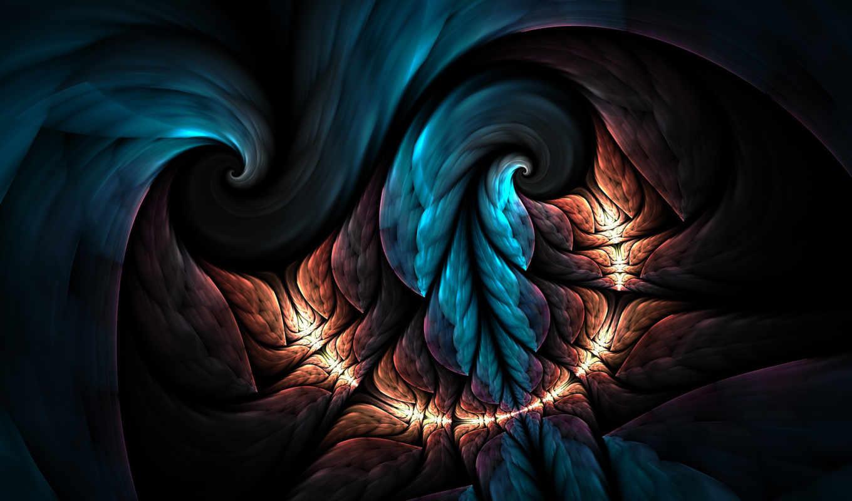 tropics, night, tatasz, fractal, art, digital, красочные, online, яркими,