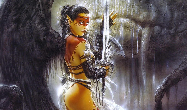 fantasy, девушка, воин, devushki,