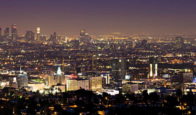 los, skyline, night, home,