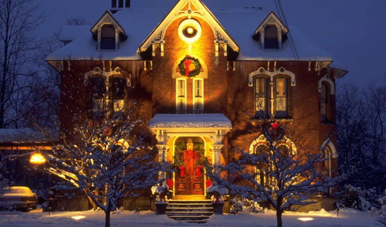 christmas, new, год, заставки, рождественские, скачай, house, обнови, desktop, украшения, свой,