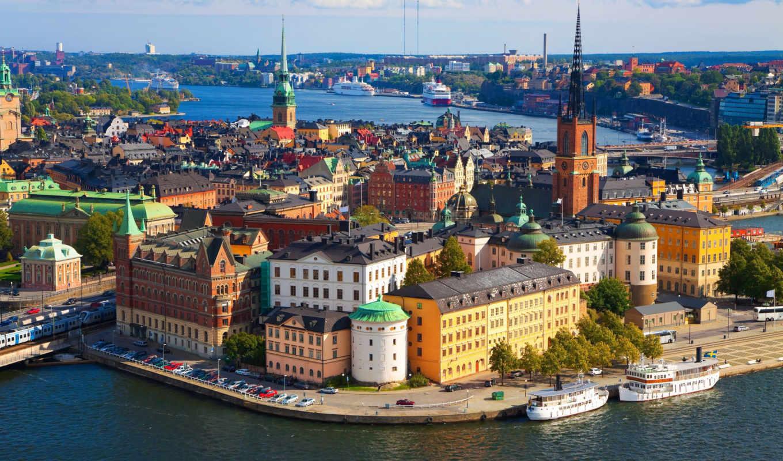stockholm, крыши, если, евро, город, тура, стокгольма,
