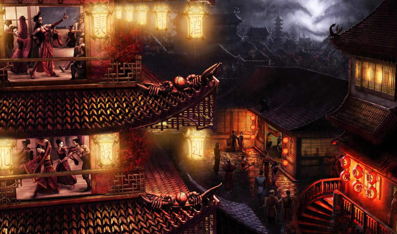 япония, дома, огни, красивые, картинка, люди, город, телефон, качество, высокое,