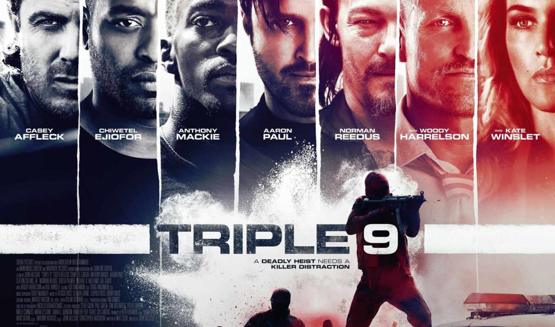 triple, плакат, movie, изображение, action, актеры, john, hillcoat, сниматься,