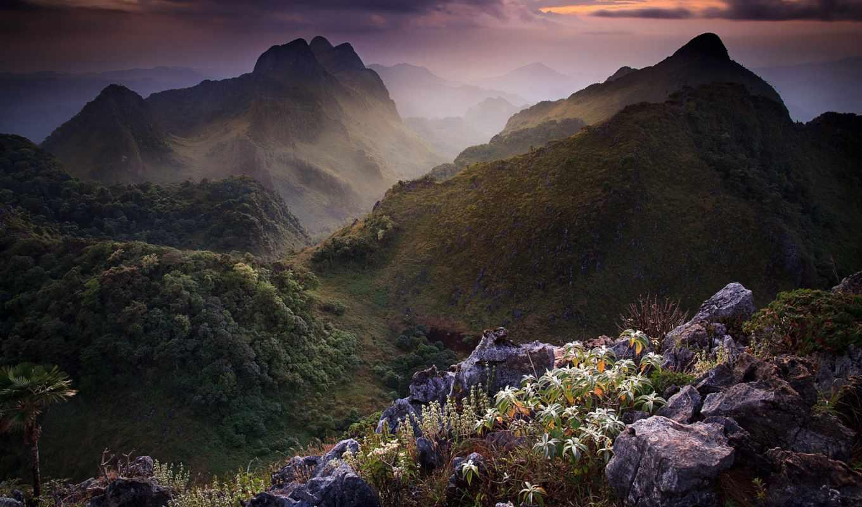 весна, mountains, гора, природа, таиланд, desktop,