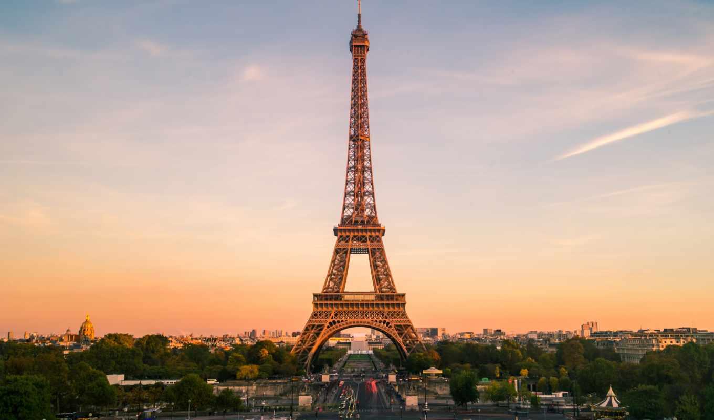 eiffel, башня, париж, torre,,