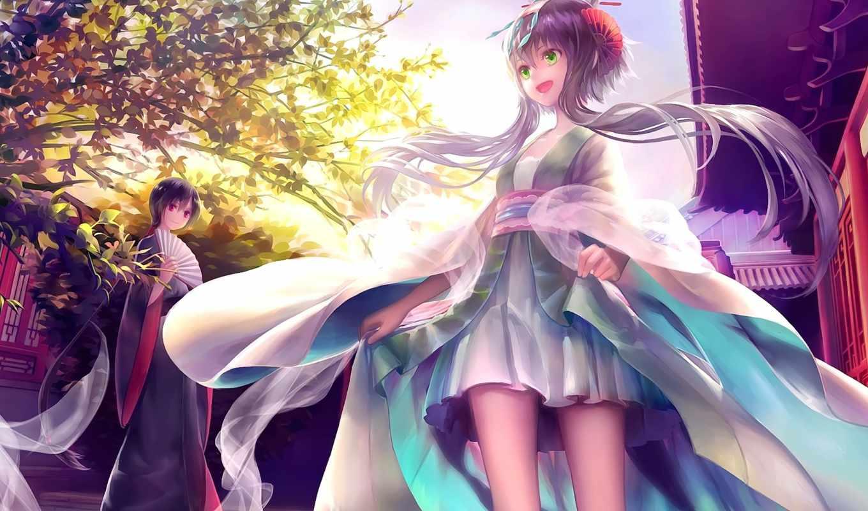 anime, luo, art, tianyi, fan, vocaloid, платье, девушка,