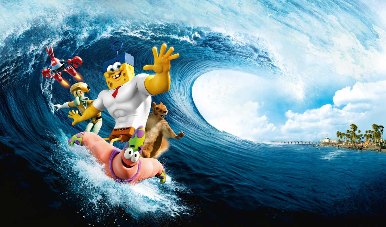 movie, spongebob, water, губка, out,