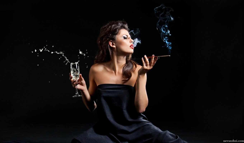 girl, алкоголь, девушки, with, drinking, photo, smoking, red,
