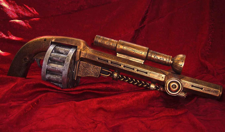 cargador, pistola, con,