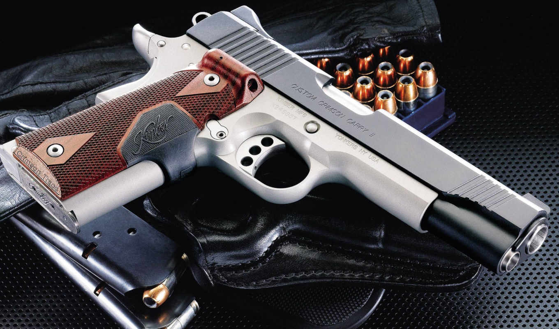 guns, pistol, kimber, кобура, магазин, ammo