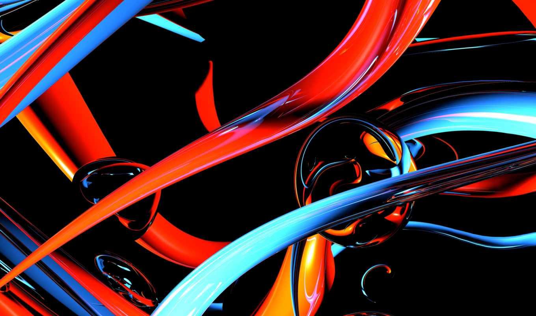 абстракция, картинка, линии, свет, том, color, pattern, изгиб, шар,