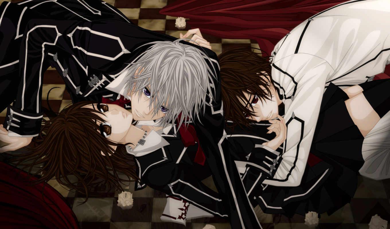 anime, рыцарь, vampire, uki, kaname,