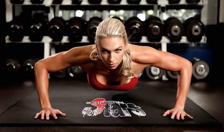 зале, тренажерном, тренировок, фитнес, девушек, занятия, трицепс, plan, программа, фотосессия, спортзале,