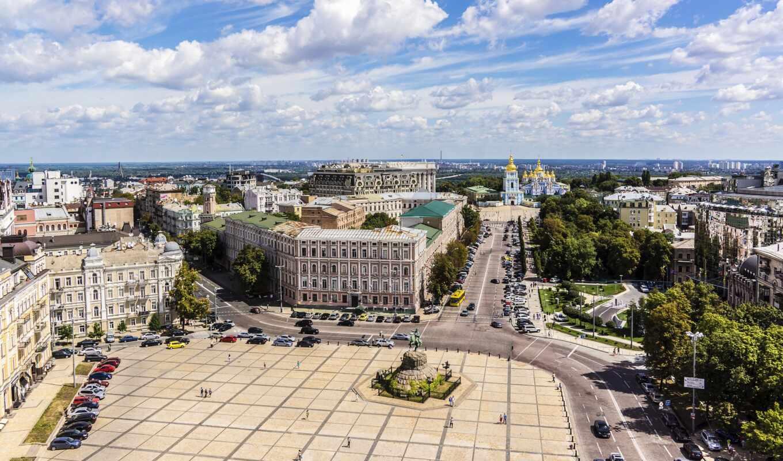 киев, ukraine, square, город, sophia, ucranium, house