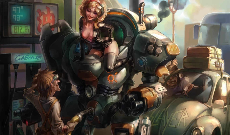 робот, картинку, девушка, код, torinogt, арт, блога, мужик, заправка,