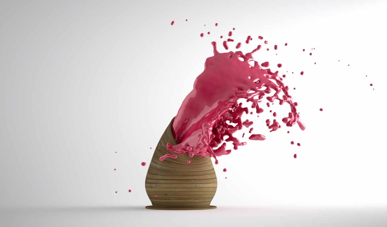 pinksplosion, art, краска, обоя, splash, pink, desktop, цвет,