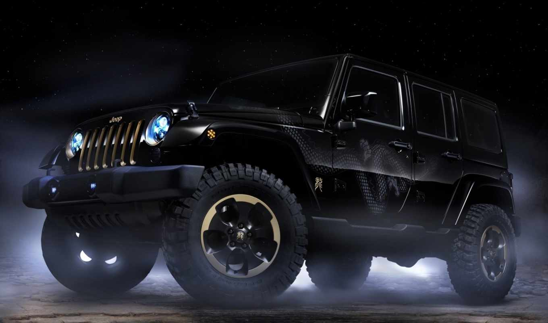 jeep, wrangler, dragon, concept, design, desktop, download, click, автомобили,