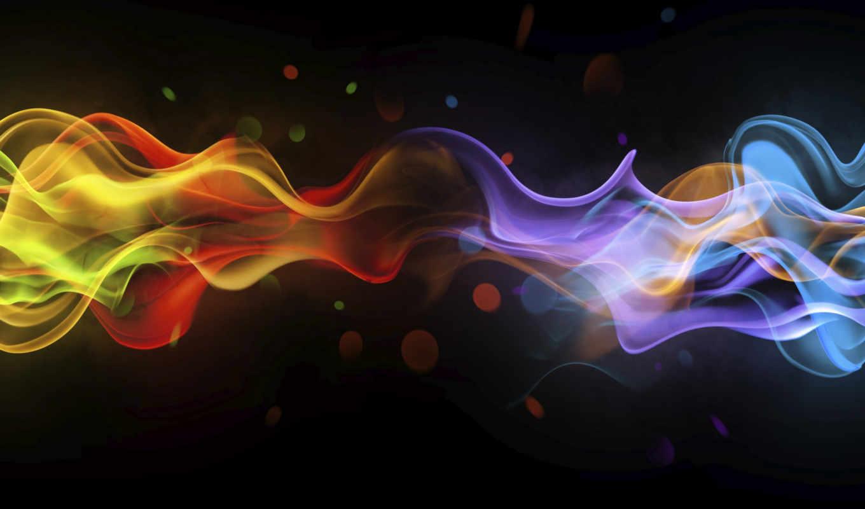 , волны, дым, цвета, линии,