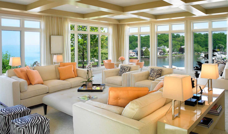 design, интерьер, стиль, house, жилая, комната, гостиной, тонах,