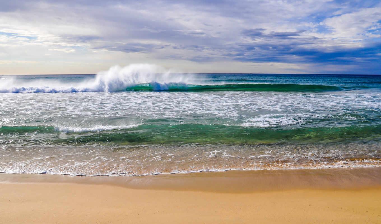 природа, море, небо, landscape, пляж, oblaka,