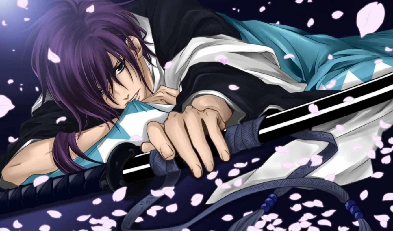 anime, сакуры, демонах, сказание, shinsengumi, hakuouki,