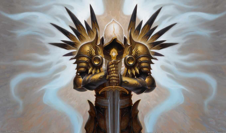 рисунок, тираэль, diablo, tyrael, this, всем, iii, еще,