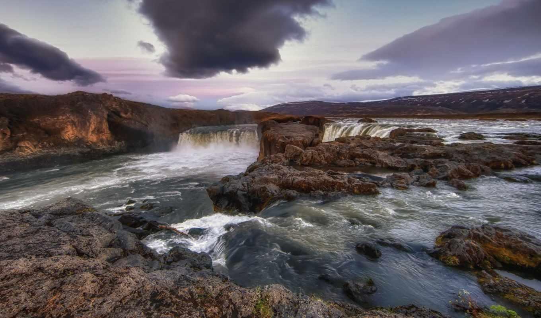 водопады, природа, park, plitvice, lakes, national, iceland, водопад,