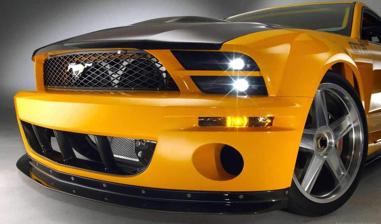 , cars, драйв, ford, mustang, желтый