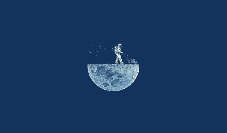 moon, ron, vein, космонавт, enkel, dika, газонокосилка, blue, минимализм, likes,