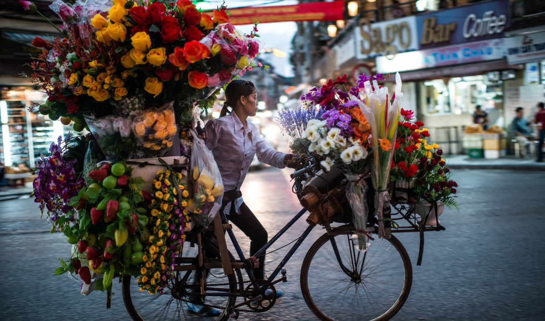flower, seller, tumblr, flowers, vendor,