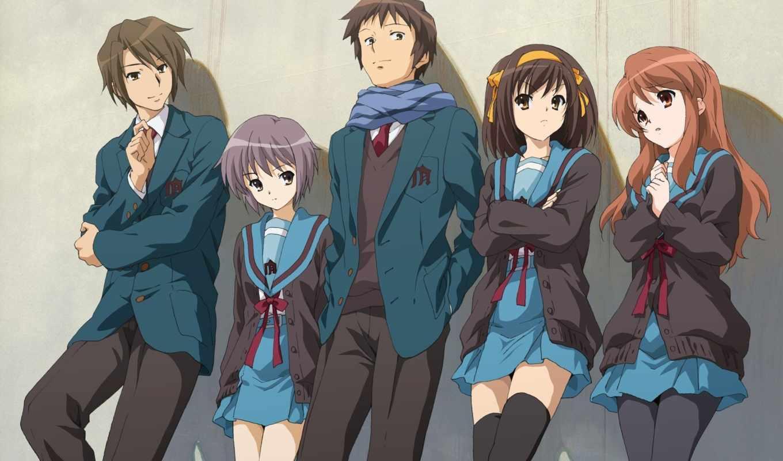 haruhi, suzumiya, anime, судзумии, yuuutsu, shoushitsu,