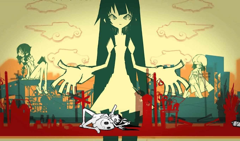 bakemonogatari, аниме, part, шт, обои, no, девочка